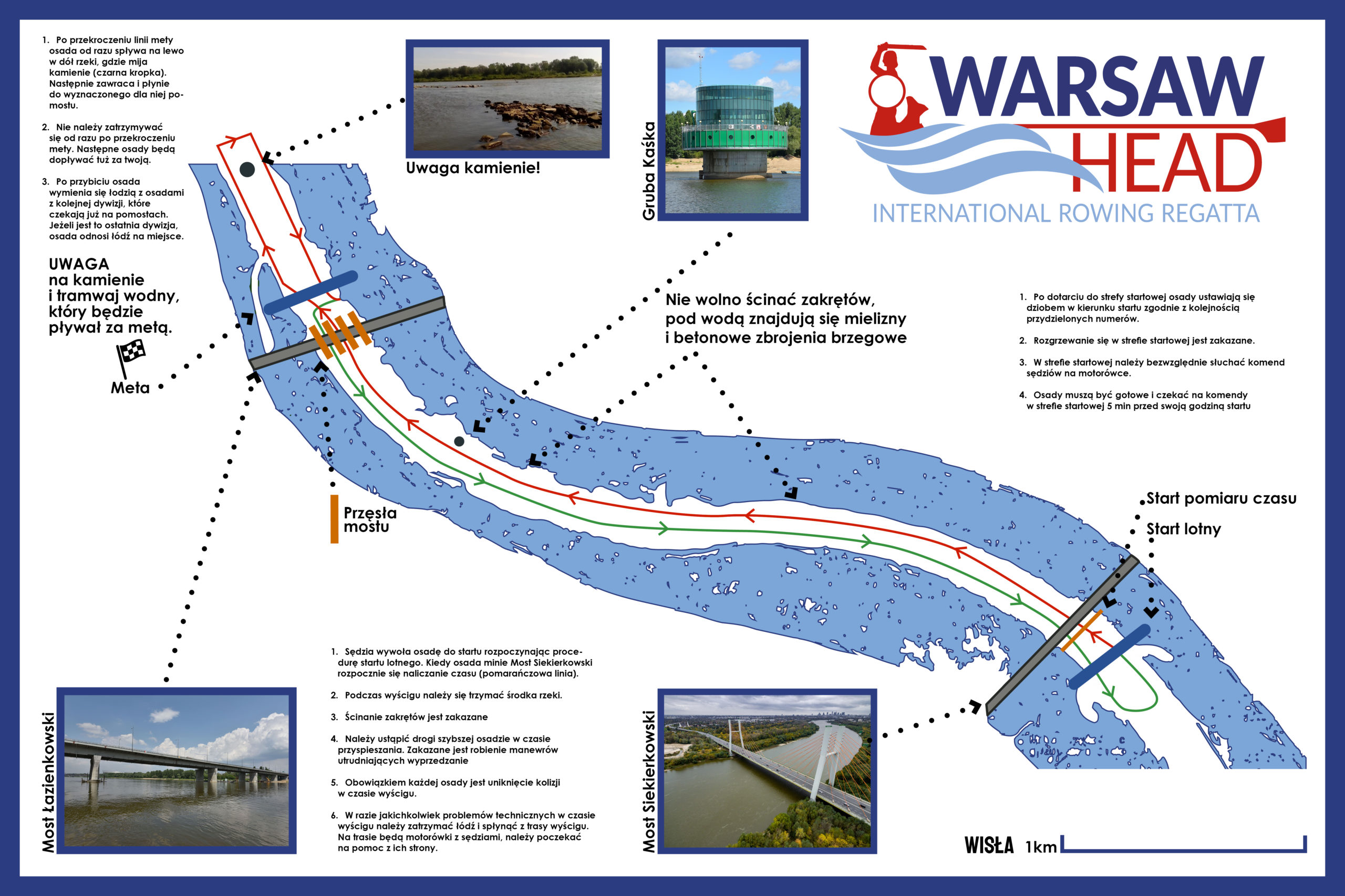 mapka wyścigu Head Warsaw 2021